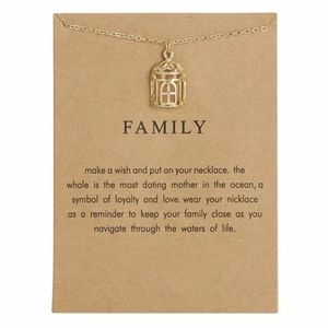 Family gold necklace